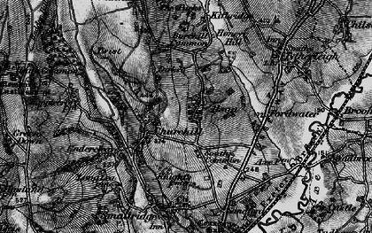 Old map of Alston in 1898