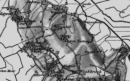 Old map of Alston Sutton in 1898