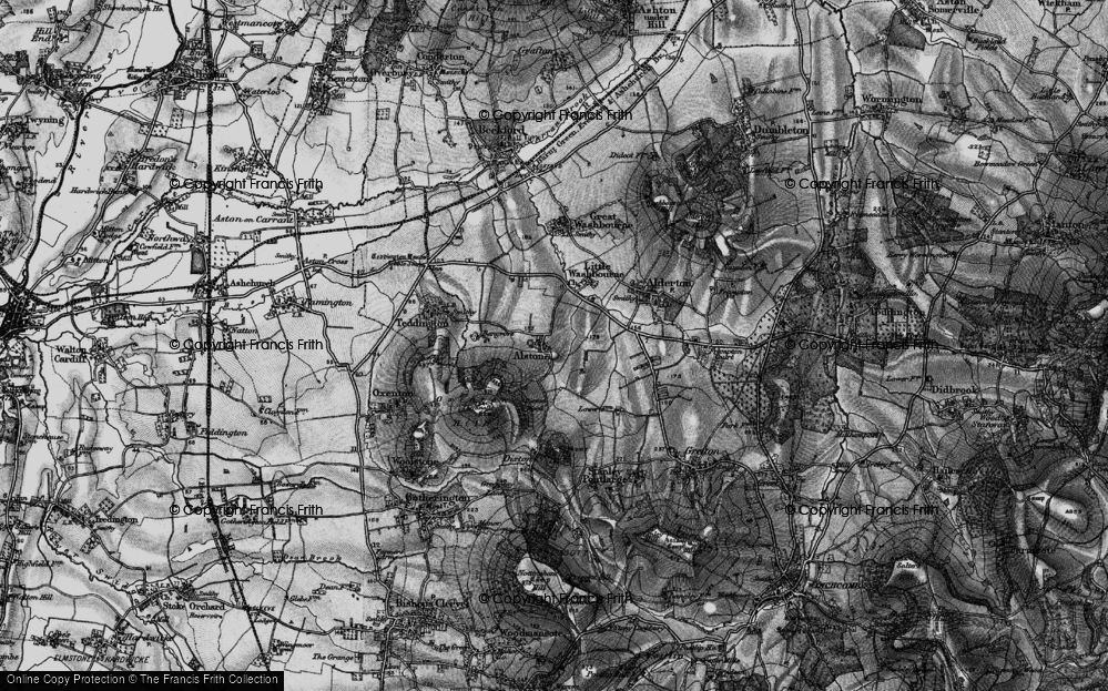 Old Map of Alstone, 1896 in 1896