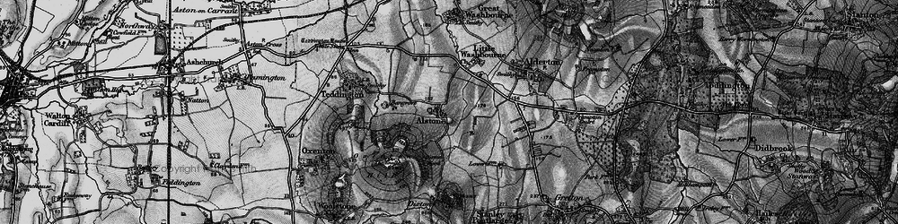 Old map of Alstone in 1896
