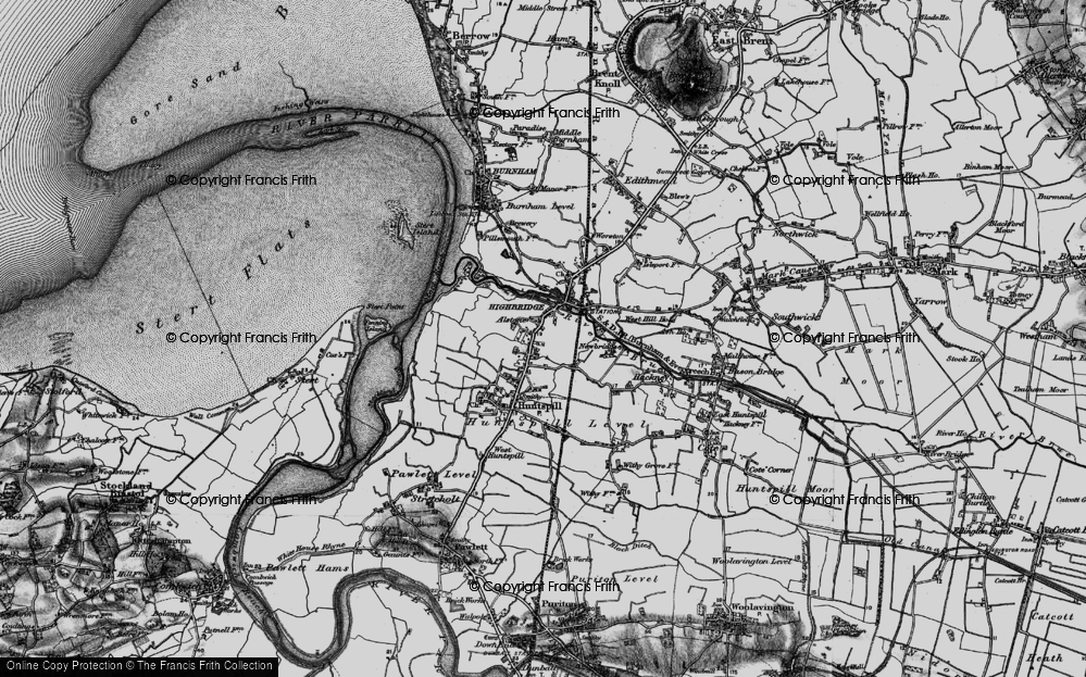 Old Map of Alstone, 1898 in 1898