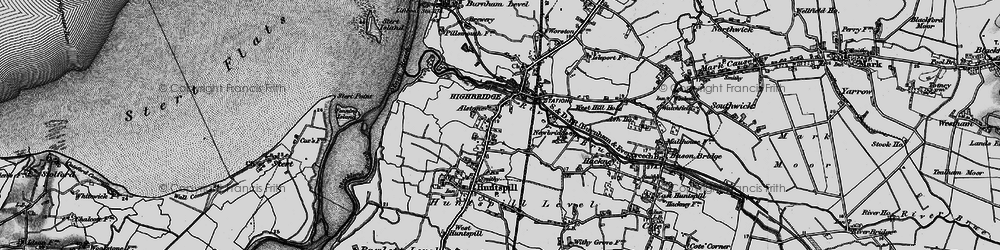 Old map of Alstone in 1898