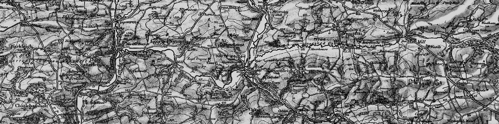 Old map of Alswear in 1898