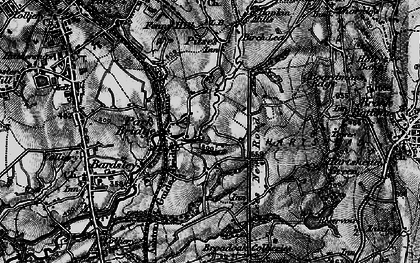 Old map of Alt Hill in 1896