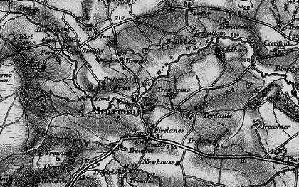 Old map of Altarnun in 1895