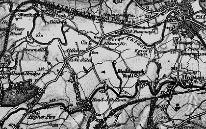 Old map of Altham in 1896