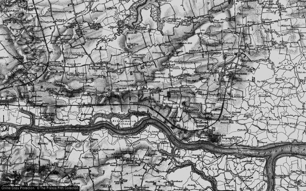 Old Map of Althorne, 1895 in 1895