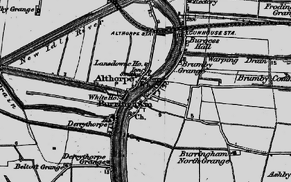 Old map of Althorpe Sta in 1895