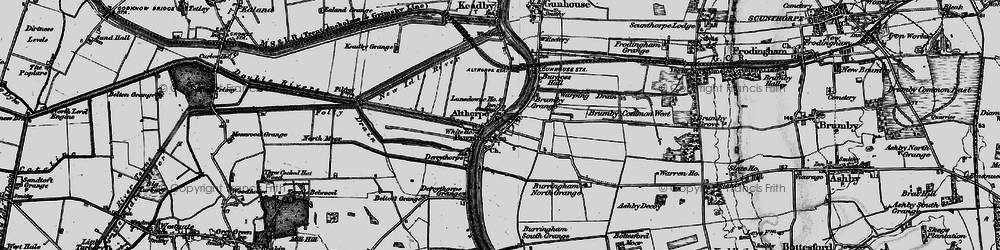 Old map of Althorpe in 1895