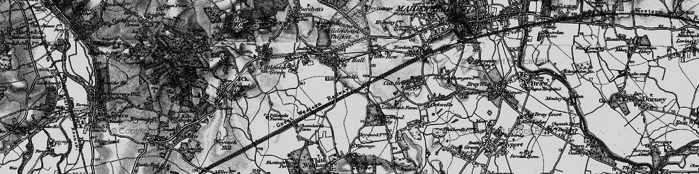 Old map of Altmore in 1895