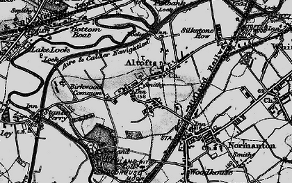 Old map of Altofts in 1896