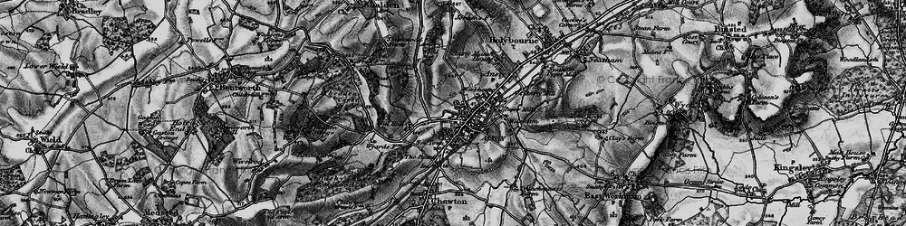 Old map of Alton in 1895