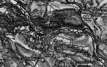 Old map of Alton Towers in 1897