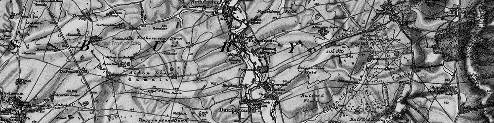 Old map of Alton in 1898