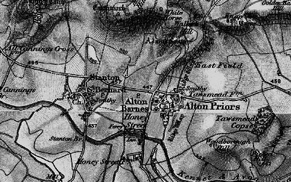 Old map of Alton Barnes in 1898