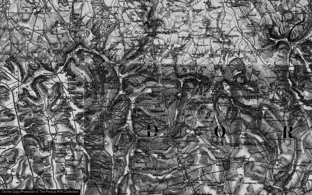 Old Map of Alton Pancras, 1898 in 1898