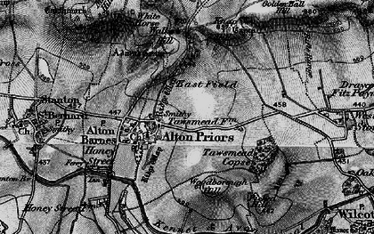 Old map of Alton Priors in 1898