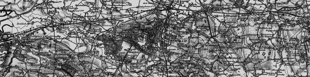 Old map of Altrincham in 1896