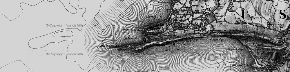 Old map of Alum Bay in 1895