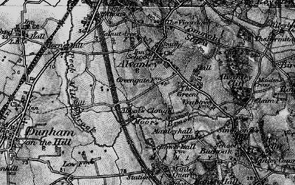 Old map of Alvanley Cliff in 1896