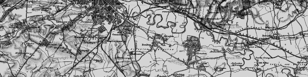 Old map of Alvaston in 1895