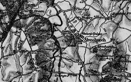 Old map of Alvechurch in 1898