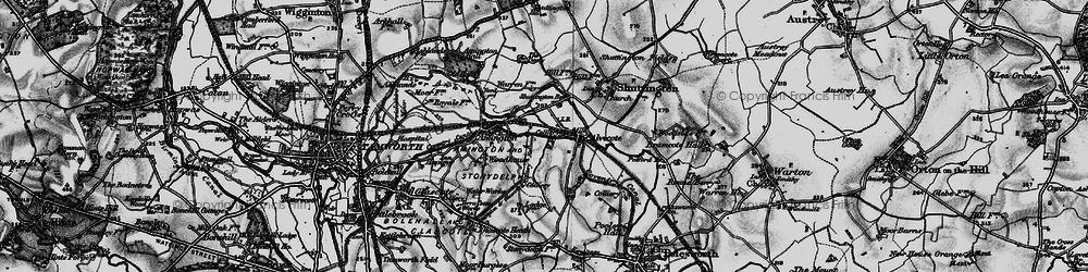 Old map of Alvecote in 1899