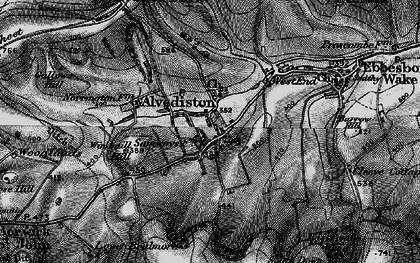 Old map of Alvediston in 1895