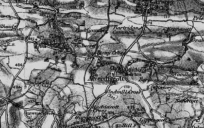 Old map of Lashingcott Moor in 1898