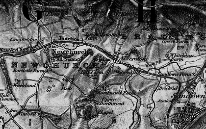 Old map of Alverstone in 1895
