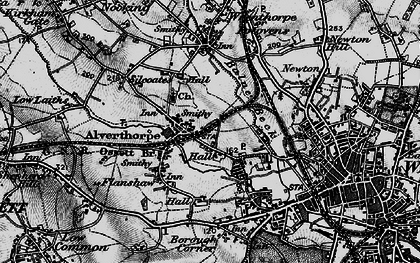 Old map of Alverthorpe in 1896