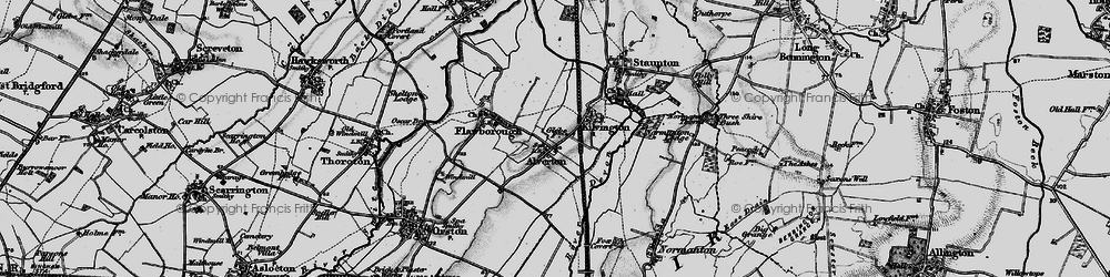 Old map of Alverton in 1899