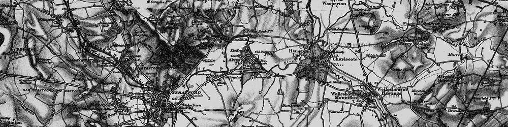 Old map of Alveston Ho in 1898