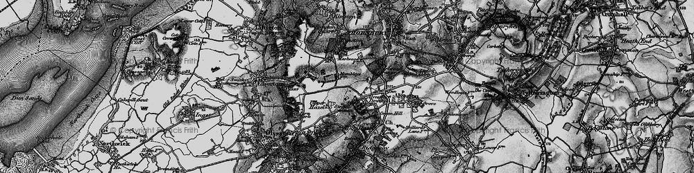 Old map of Alveston Down in 1897