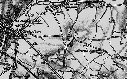 Old map of Alveston Hill in 1898