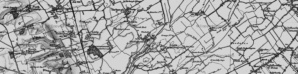 Old map of Alvingham in 1899