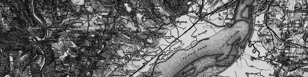 Old map of Alvington in 1897