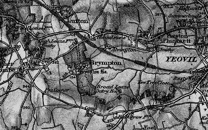Old map of Alvington in 1898