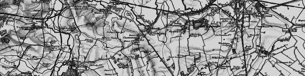 Old map of Alwalton in 1898