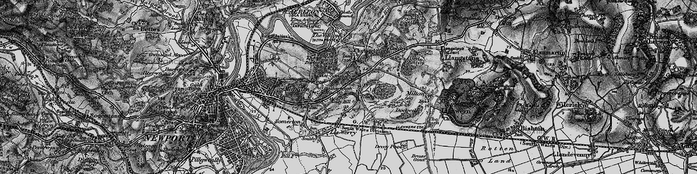 Old map of Alway in 1897