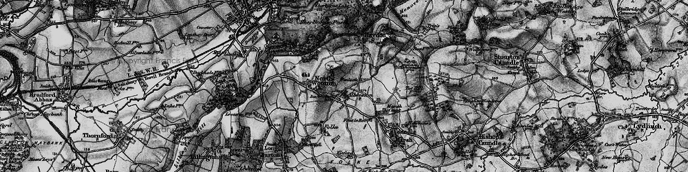 Old map of Alweston in 1898