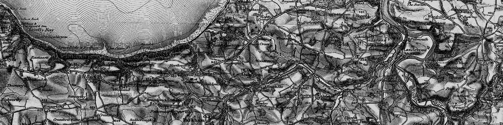 Old map of Alwington in 1895
