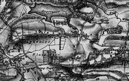 Old map of Alwoodley Old Hall in 1898