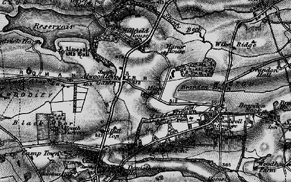 Old map of Wigton Moor in 1898