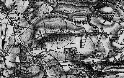 Old map of Alwoodley Park in 1898