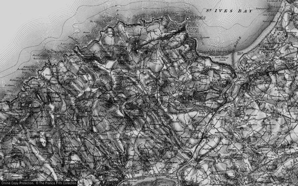 Old Map of Amalebra, 1896 in 1896