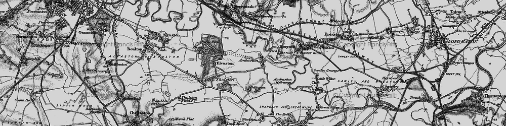Old map of Ambaston in 1895
