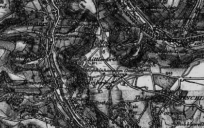 Old map of Whitfield's Tump (Long Barrow) in 1897