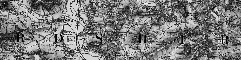 Old map of Amberley in 1898