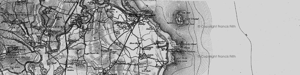 Old map of Amble in 1897